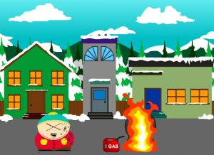 South Park Kenny on fire